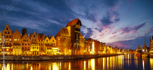 Foto auf Gartenposter Stadt am Wasser Cityscape of Gdansk in Poland,beautiful view of the old city