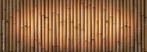Foto op Plexiglas Bamboe Bamboo fence