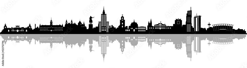 Fototapety, obrazy: Skyline Warschau