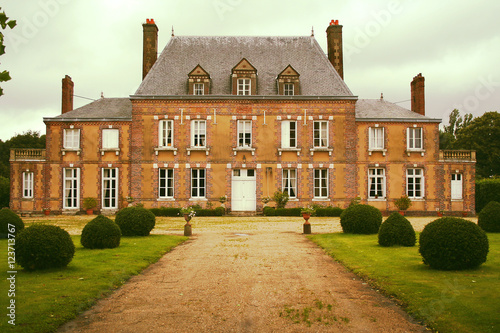 Foto auf Leinwand Schloss Manor house in Normandy, Rouen, France