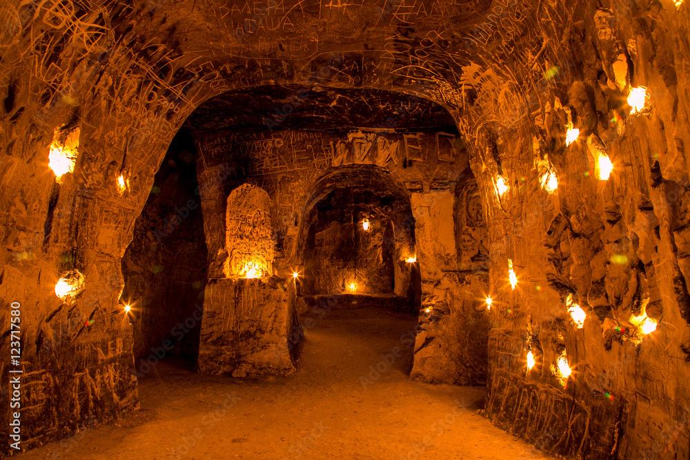 Fototapety, obrazy: Калачеевский меловой пещерный монастырь / Kalach chalky cave monastery