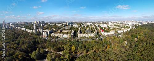 Foto op Plexiglas Kiev aerial view of the autumn Kiev, Holosiivskyi Ave.