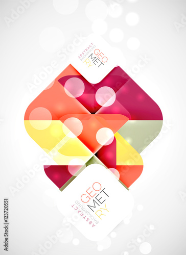 Poster Geometrische dieren Square and triangle pattern background
