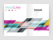 Modern line design, motion concept. Business annual report brochure templates