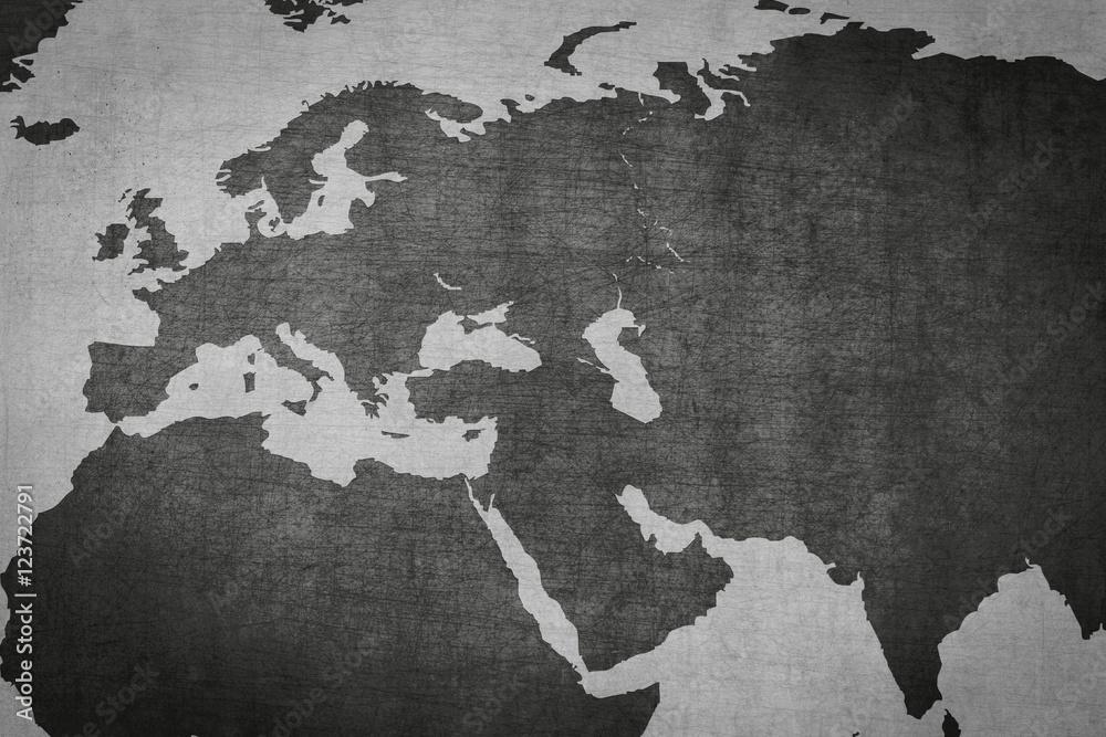 Karte Europa Asien.Eurasien Europa Asien Karte Auf Vintage Hintergrund Foto