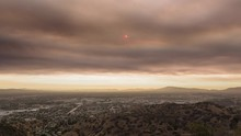 San Fernando Valley Covered With Santa Clarita Sand Fire Timelapse