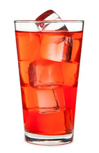 Red Fruit Punch In Pint Glass ...