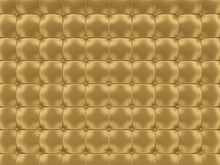 Gold Upholstery Background 3D Rendering