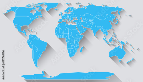 World map flat design