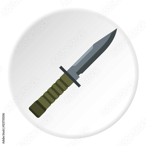 Photo  Military combat knife icon