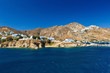 View of Serifos island from a ferry.