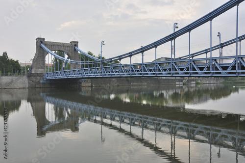 Poster Bridges Zabytkowy most wiszący