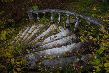Old Stone Staircase With A Han...