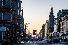 Sunset At Princes Street, Edin...
