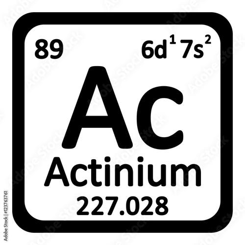 Periodic table element actinium icon. Canvas Print