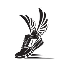 Speeding Running Sport Shoe Icon