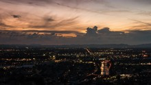 Cloudy Day To Night San Fernando Valley Timelapse Near Los Angeles, California