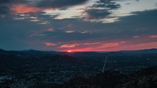 Simi Valley, California Day To Night Sunset Timelapse