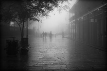 New Orleans In The Fog In Black And White