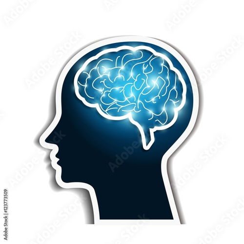 Human brain Vector Wallpaper Mural