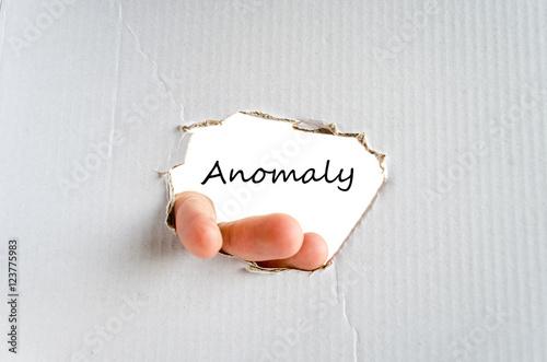 Fotografia, Obraz  Anomaly text concept
