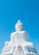 The Big White Buddha statue monument on the mountain of Phuket, Thailand