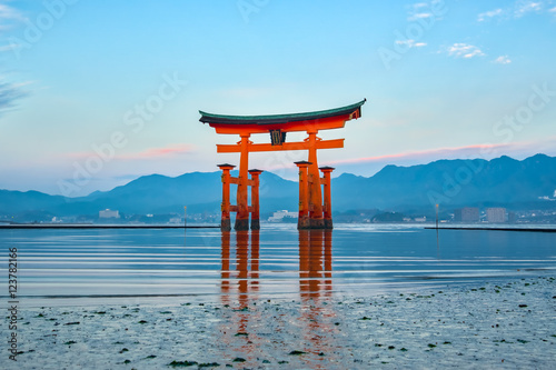The Floating Torii gate in Miyajima, Japan