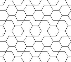 FototapetaAbstract geometric black and white hipster fashion design print hexagon pattern