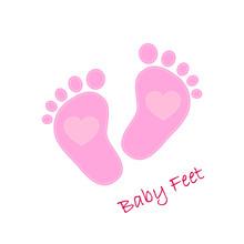 Baby Footprints Icon. Vector Illustration.