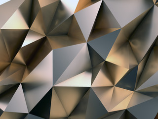 Obraz Abstract Metal Background 3D Illustration