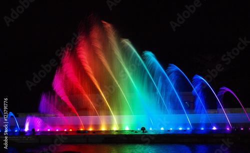 Valokuva  虹色噴水