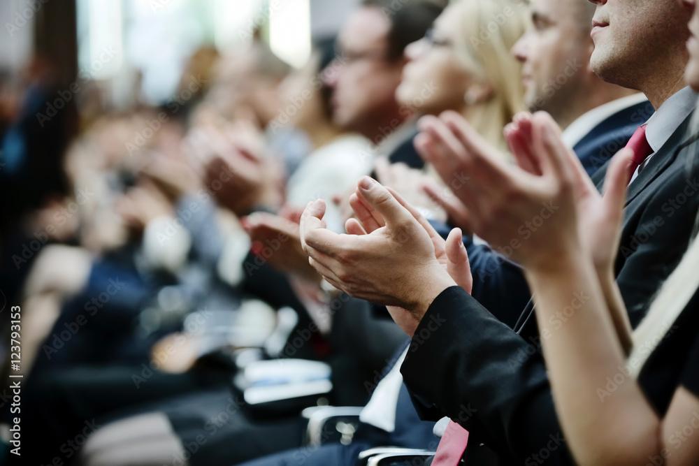 Fototapeta klatschende Hände, klatschen, Beifall, Applaus