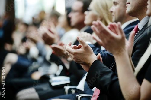 Cuadros en Lienzo klatschende Hände, klatschen, Beifall, Applaus