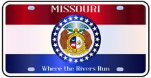 Missouri License Flag Plate