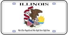 Illinois Flag License Plate