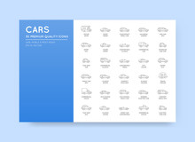 Vector Car Icons Set With All ...