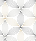 Abstract linear petal flower. Vector pattern - 123816104