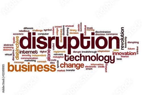 Fotografie, Obraz  Disruption word cloud