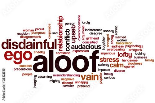 Aloof word cloud Canvas Print