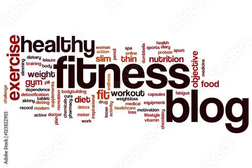 Fitness blog word cloud