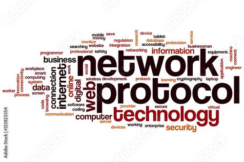 Fotografía  Network protocol word cloud