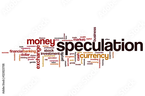 Fotografía  Speculation word cloud