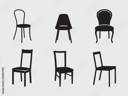 Fotografie, Obraz  Chairs icons