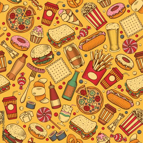 fast-food-wzor-jedzenie