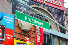 Broadway Sign In New York City...