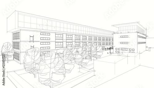Fotografie, Obraz  Architecture 3d illustration