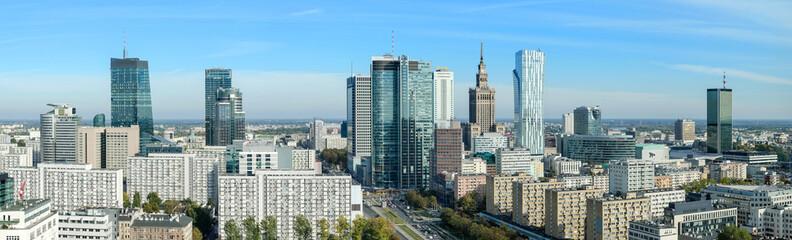 Fototapeta na wymiar Warszawa, panorama miasta