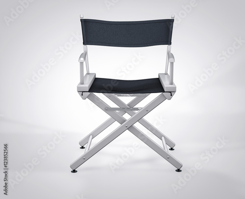 3D Isolated Film Director Chair. Hollywood Studio Movie Set.