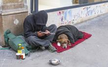 Clochard With Dog