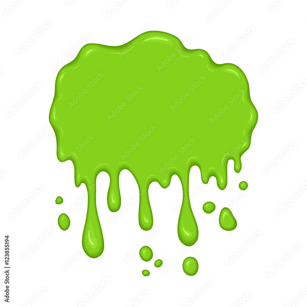 Vector Illustration Green Slime Drips Foto Poster Wandbilder